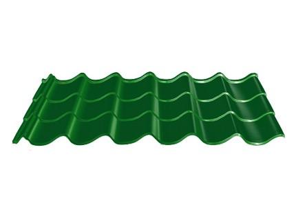 "Металлочерепица RAUNI Mini Polyester; (глянец) 25 микрон ""Алюмоцинк"" ; 0,45"