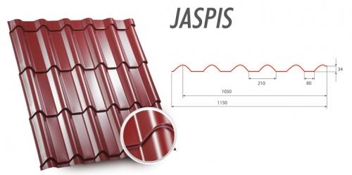Металлочерепица цена Jaspis Яспис ZartMet покрытие - глянец, мат, структурный мат.