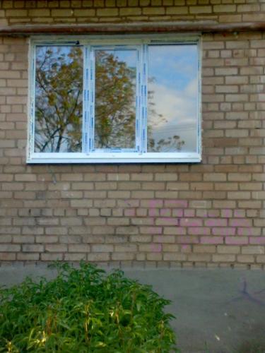 Металлопластиковое окно 2050х1400 мм(трехстворчатое)