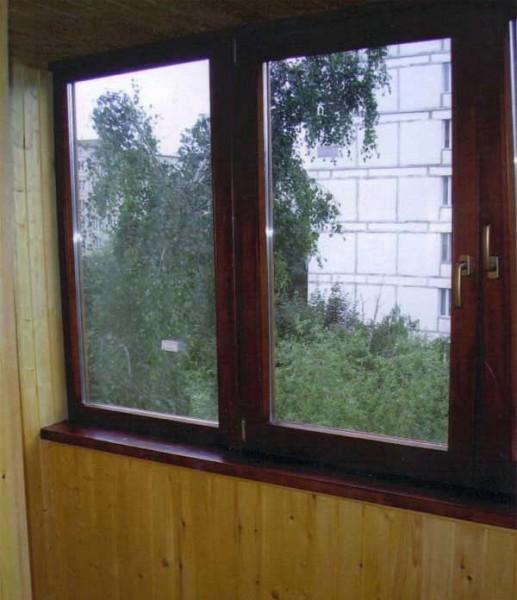 Металопластикові вікна та двері ламіновані під дерево .