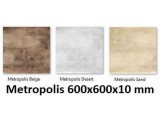 плитка напольная Metropolis Beige 600x600x10 mm