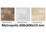 плитка напольная Metropolis steel 600x600x10 mm