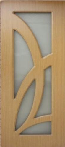Межкомнатная дверь ПВХ ТМ Дубрава Лиана ПО (миланский орех)