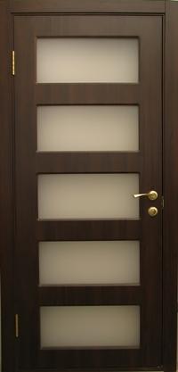 Межкомнатная дверь ПВХ ТМ Дубрава Мелан ПО (венге)