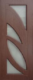 Межкомнатная дверь ПВХ ТМ Дубрава Пальмира ПО (итальянский орех)