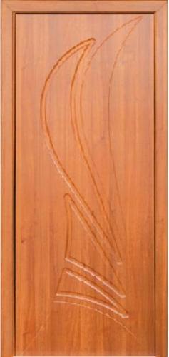 Межкомнатная дверь ПВХ ТМ Неман Корона ПГ (светлый орех)