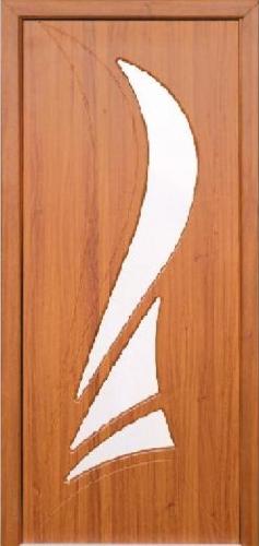 Межкомнатная дверь ПВХ ТМ Неман Корона ПО (светлый орех)