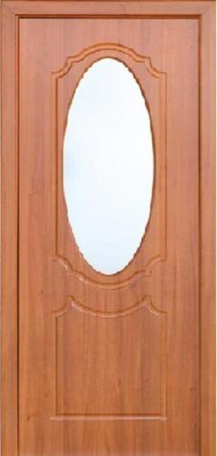 Межкомнатная дверь ПВХ ТМ Неман Зеркало ПО (светлый орех)