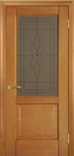 """Межкомнатные двери деревянные шпонированые. Модель 18 """"орех класический"""""""