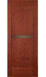 Межкомнатные двери деревянные. Покрыты шпоном кореня амаретто. Модель31