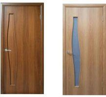 Межкомнатные двери, эконом класс, модель Волна, покрытие: дверной блок МДФ ламинированный