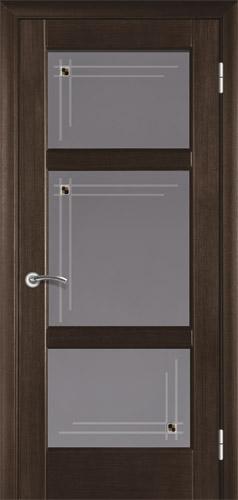 Межкомнатные двери из евробруса шпонированые. Модель 14 венге. Со стеклом и глухая.