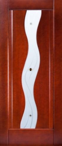 Межкомнатные двери из евробруса шпонированые. Модель№10 Стекло. Цвет:венге, беленый дуб, каштан, орех, анегри.