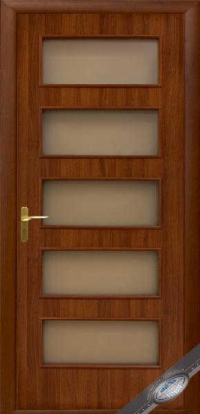 Межкомнатные двери МДФ, Новый Стиль, коллекция Квадра, Ева со стеклом