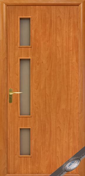 Межкомнатные двери МДФ, Новый Стиль, коллекция Квадра, Герда со стеклом