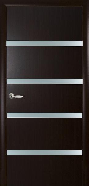Межкомнатные двери МДФ, Новый Стиль, коллекция Квадра, Нота со стеклом