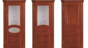 Межкомнатные двери, модель Флоренция, цвет: анегри светлый, черешня натуральная, красное дерево, патина, черешня