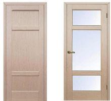Межкомнатные двери, модель Генри, покрытие: Шпон беленого дуба.