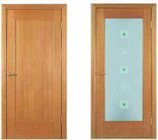 Межкомнатные двери, модель Капри, покрытие: шпон анегри.