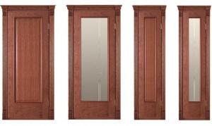 Межкомнатные двери, модель Корсика,цвет: анегри светлый, черешня натуральная, бубинга