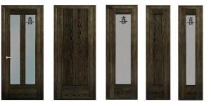 Межкомнатные двери, модель Неаполь, цвет: американский орех, аvorio оro, клен, дуб белены, дуб кашта, Nero Oro