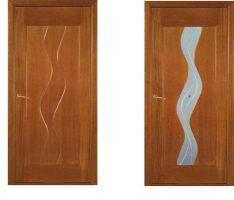 Межкомнатные двери, модель Вария, покрытие: шпон анегри, тонированного под цвет миланский орех.