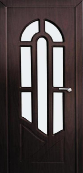 Межкомнатные двери, Неман, модель Аркадия со стеклом.