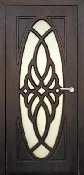 Межкомнатные двери, Неман, модель Орхидея со стеклом.