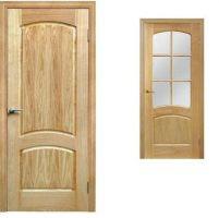 Межкомнатные двери, покрытие: филёнчатые, шпон канадского дуба.