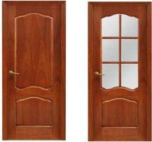 Межкомнатные двери, покрытие: филёнчатые, шпон красного дерева «сапель рамеадо»