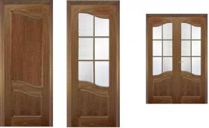 Межкомнатные двери, покрытие: филёнчатые шпон ясеня тонированного под цвет орех.