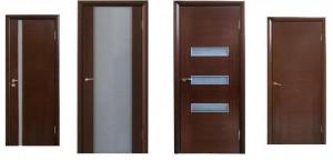 Межкомнатные двери, покрытие: гладкие, шпон венге.