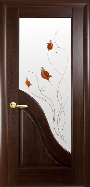 Межкомнатные двери ПВХ, Новый Стиль, коллекция Маэстро Р, Амата Р1 с рис