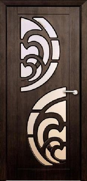 Межкомнатные двери, Неман, модель Прибой со стеклом.