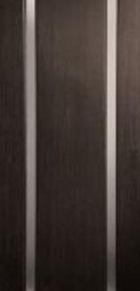 Дверное полотно шпон FL (файн-лайн), коллекция Премьера, Премьера 2 с стеклом