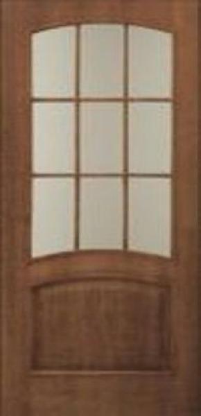 Межкомнатные двери шпон, коллекция Классика ,Капри с стеклом