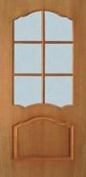 Межкомнатные двери шпон, коллекция Классика , Каролина с стеклом
