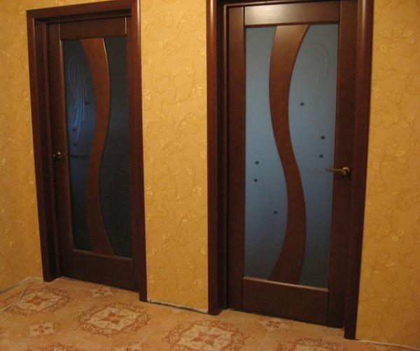 Межкомнатные двери Сицилия. Цвет: анегри, миланский орех, каштан беленый дуб, венге
