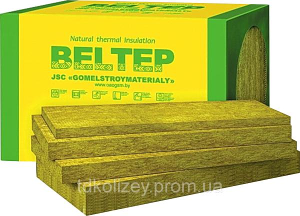 Фото  1 Минеральная ( базальтовая, каменная, вата) утеплитель Белтеп Фасад 12 (плотность 135кг/м3) 100 мм 1814551