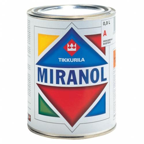 Миранол - Miranol alkydimaali Ударостойкая тиксотропная алкидная эмаль с незначительным запахом.