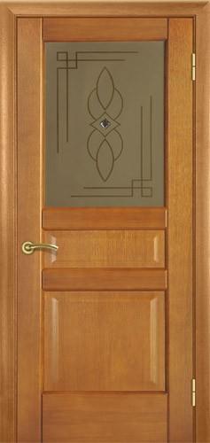 Міжкімнатні деревяні двері. Модель 20 горіх класичний. Зі склом. Виготовлення 14 днів.