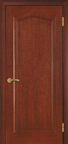 Міжкімнатні двері деревяні шпоновані натуральним шпоном, модель 2 червоне дерево.