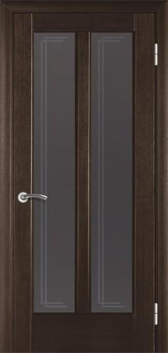 Міжкімнатні двері деревяні шпоновані. Модель 17 венге зі склом. Коробка, лиштва.