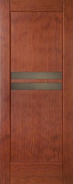 Міжкімнатні двері деревяні. Шпон кореню амаретто. Модель 32. Коробка, налічніки.