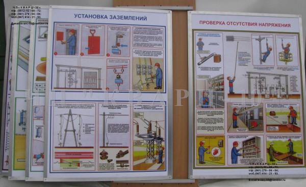 Многоплакатные перелистные стенды для специализированных кабинетов.