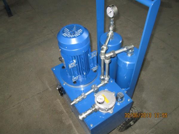 Мобильная установка для фильтрации (очистки) масла, дизтоплива.