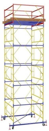 Мобильная вышка-тура Атлант 2,0х2,0м. Рабочая высота вышки от 5,0 до 21,8 м.