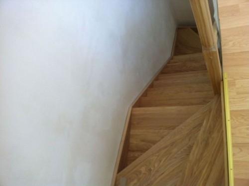 Модель Kalipso duble– прямая лестница c двумя поворотами на 90 градусов, выс.3м ш.85см ясень