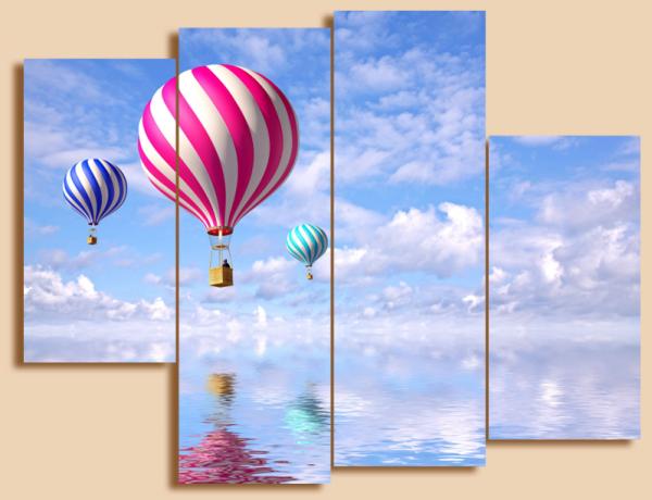 "Модульная картина холст ""Воздушный шар"" - 890,00 грн"