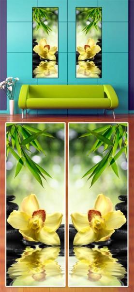Модульная картина на холсте Цветы
